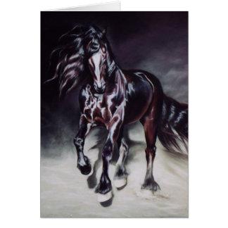 Friesian Stallion - card
