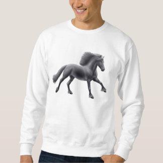 Friesian Stallion Galloping Sweatshirt