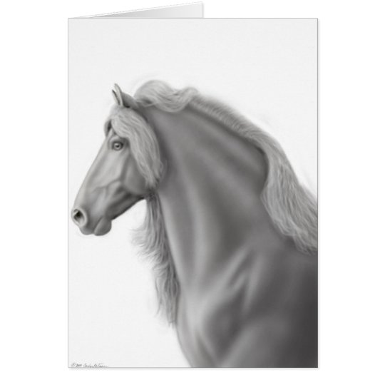 Friesian Stallion Greeting Card