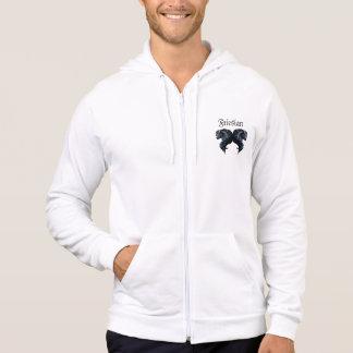 Friesian stallion horse, the black beauty hoodie