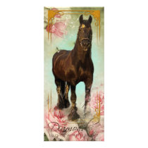 Friesian Stallion II - Rackcard Rack Card