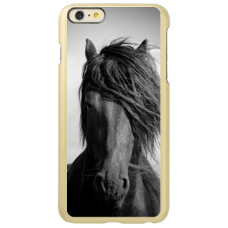 Friesian stallion in the wind. incipio feather® shine iPhone 6 plus case