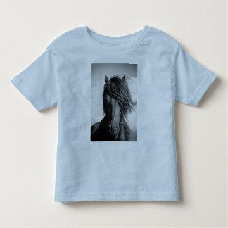 Friesian stallion in the wind. shirt