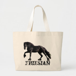 Friesian Stallion Large Tote Bag