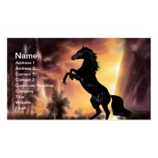 Friesian Stallion rearing Business Card