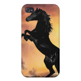 Friesian stallion rearing iPhone 4 covers