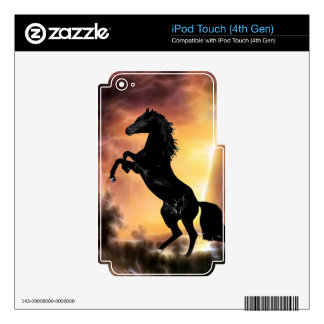 Friesian stallion rearing skin for iPod touch 4G