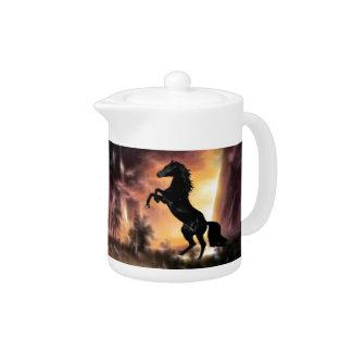 Friesian Stallion rearing Teapot