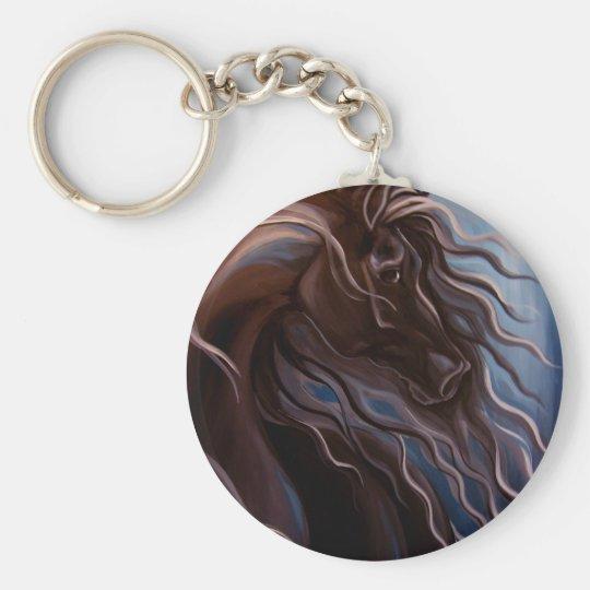 Friesian Storm Keychain