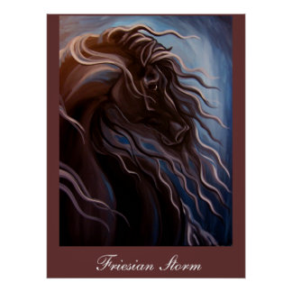 Friesian Storm Posters