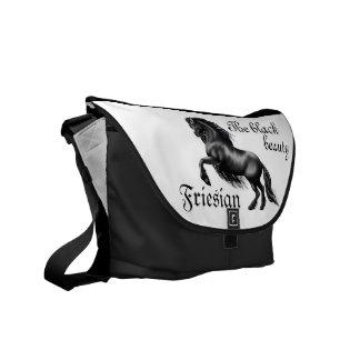 Friesian, the black beauty, stallion courier bag