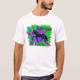 Friesian, the black beauty, stallion horse T-Shirt