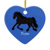 FRIESIAN WARMBLOOD DUTCH HORSE Custom Ornament