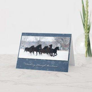 Friesian Yearlings Holiday Card