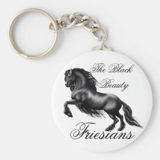 Friesians, black letter keychain