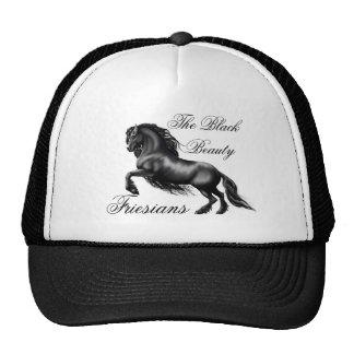 Friesians, black letter trucker hat