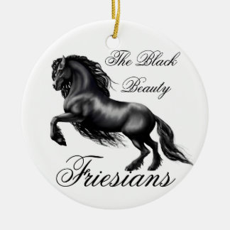 Friesians Double-Sided Ceramic Round Christmas Ornament