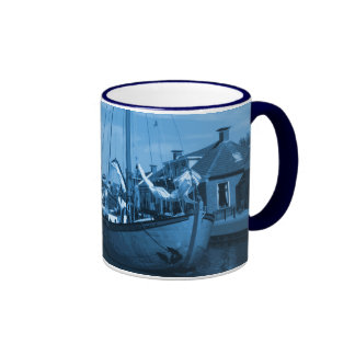 Friesland Canal Holland Delft-Blue-Look Mug
