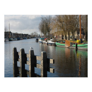 Friesland Canal Netherlands Poster