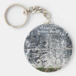 Frieze, ball court, Chichen Itza, Yucatan, Mexico Key Chain