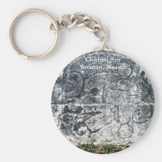 Frieze, ball court, Chichen Itza, Yucatan, Mexico Keychain