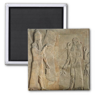 Frieze depicting a winged spirit 2 inch square magnet