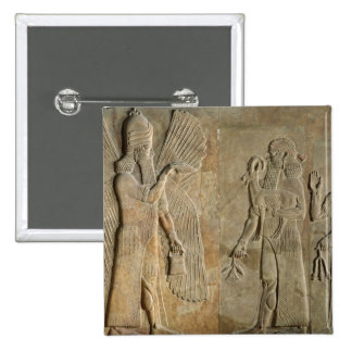Frieze depicting a winged spirit 2 inch square button