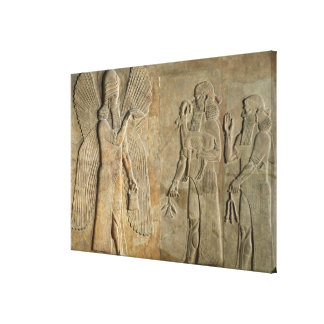 Frieze depicting a winged spirit canvas print