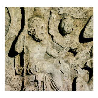 Frieze depicting King Priam and Hecuba Poster