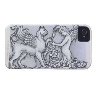 Frieze depicting mythical winged animal and iPhone 4 cover