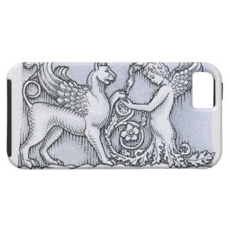 Frieze depicting mythical winged animal and iPhone SE/5/5s case