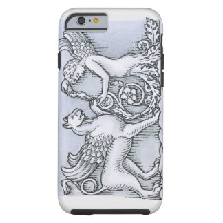 Frieze depicting mythical winged animal and tough iPhone 6 case