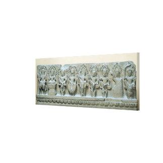 Frieze depicting nine divinities canvas print
