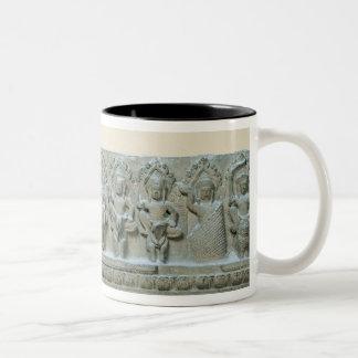 Frieze depicting nine divinities Two-Tone coffee mug