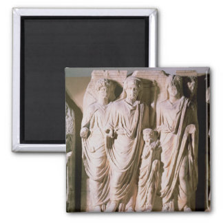 Frieze detail showing Emperors Hadrian 2 Inch Square Magnet