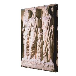 Frieze detail showing Emperors Hadrian Canvas Print