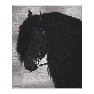 Frieze horse canvas print