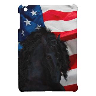 Frieze horse/Friesian with USAS flag iPad Mini Cases