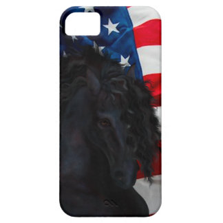 Frieze horse/Friesian with USAS flag iPhone SE/5/5s Case