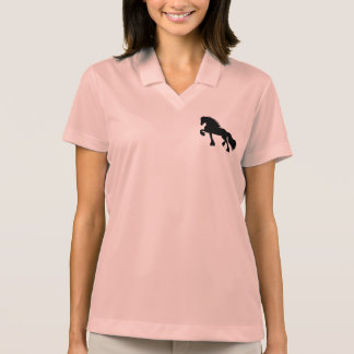 Frieze horse polo shirt