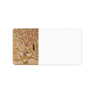 Frieze II by Gustav Klimt Address Label
