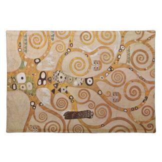 Frieze II by Gustav Klimt Cloth Placemat