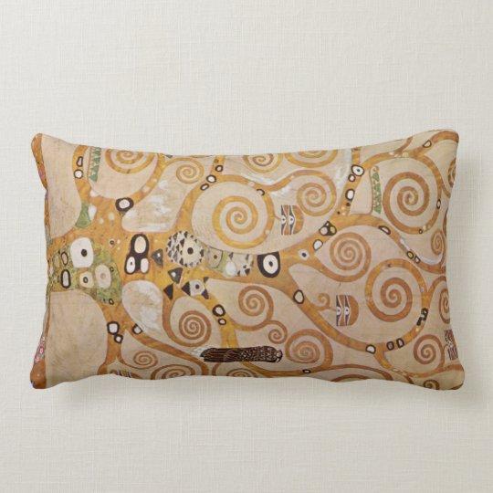 Frieze II by Gustav Klimt Lumbar Pillow