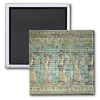 Frieze of archers 2 inch square magnet