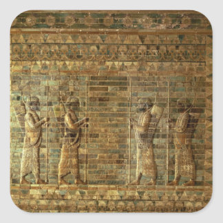Frieze of archers of the Persian king's guard, fro Square Sticker