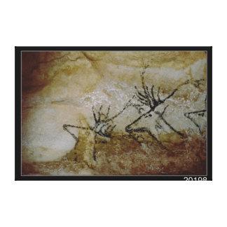 Frieze of deer, c.17000 BC Canvas Print