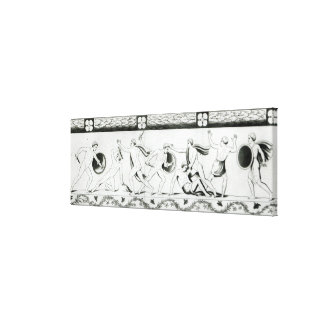Frieze on the Pillar of the Grotta del Stretched Canvas Print