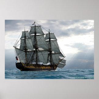 frigate at dawn print
