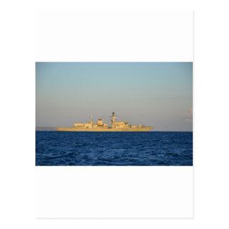 Frigate HMS Monmouth. Postcard