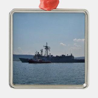 Frigate John L. Hall Metal Ornament